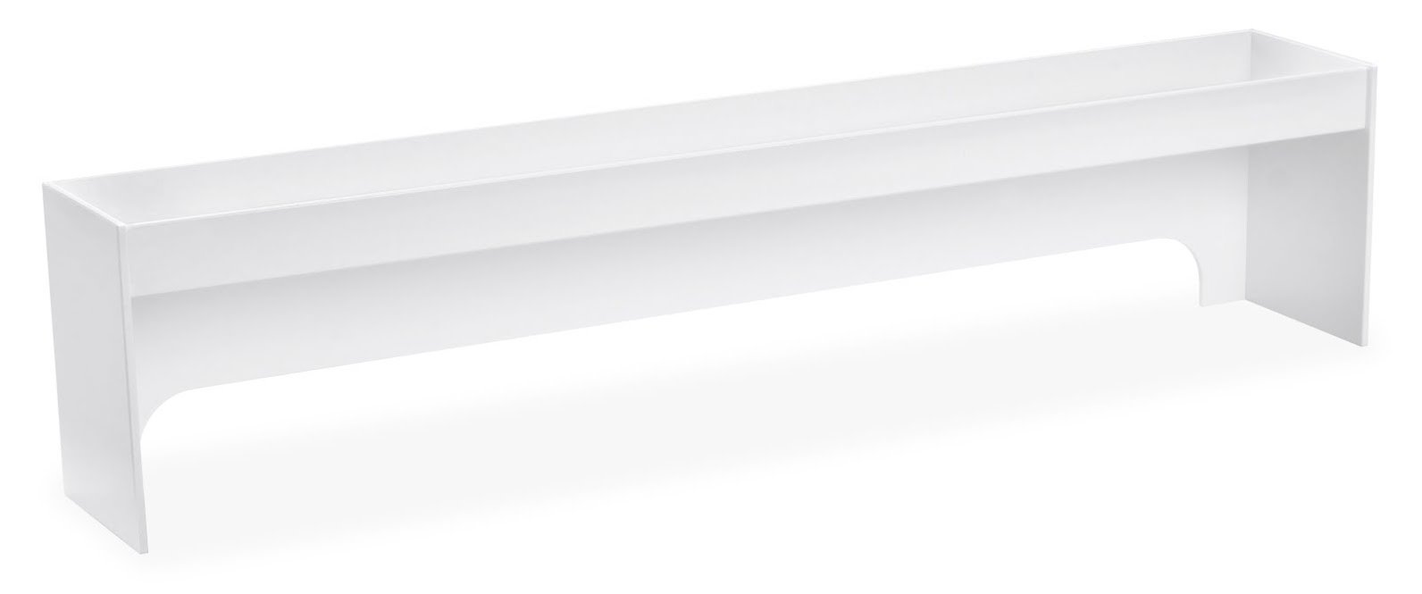TrippNT 50215 PVC Fume Hood Shelf, 36'' Width x 8'' Height x 5'' Depth, 3 ', White