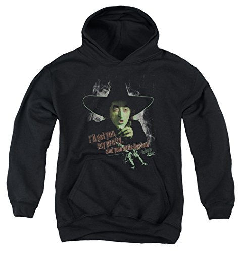 - Kids The Wizard Of Oz The Wicked Witch of the West Youth Hoodie, Black, Large