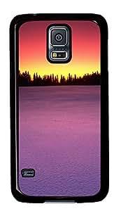 Samsung Galaxy S5 case mate covers Pink Sunrise Hills Scenery PC Black Custom Samsung Galaxy S5 Case Cover