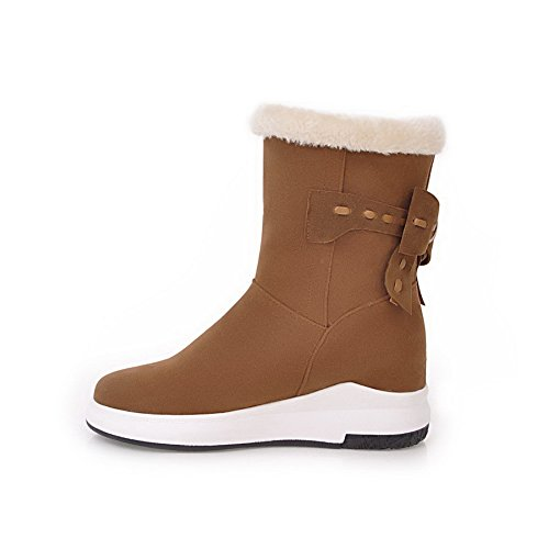 AN ANDku01686 - Stivali da Neve Donna, Marrone (Brown), 35 EU