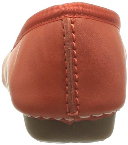 Leather femme Ballerines Freckle Orange Freckle Clarks Orange Clarks Ice qTZnI8Xw