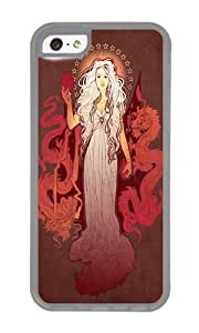 Apple Iphone 5C Case,WENJORS Unique Our Mother of Dragons Soft Case Protective Shell Cell Phone Cover For Apple Iphone 5C - TPU Transparent