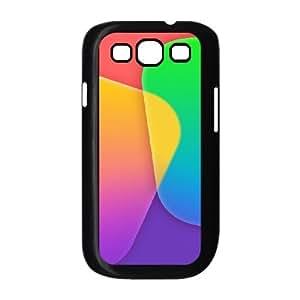 Case For Samsung Galaxy S3, Color Blocks Crossing Case For Samsung Galaxy S3, Doah Black