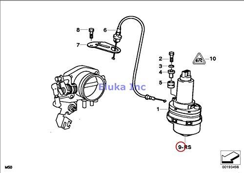 Kits Actuator Valve Housing (BMW Genuine Fuel Injection Repair Kit Throttle-Valve Actuator ASC+T 840Ci 840i 740i 740iL 525i 530i 540i 323i 325i 325is 328i M3 3.2 528i Z3 2.8 Z3 M3.2)