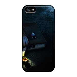DreCNtZ6607TtSES Tpu Case Skin Protector For Iphone 5/5s Halloween House Holidays With Nice Appearance