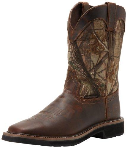 15872ea327c5bd Amazon.com   Justin Original Work Boots Men's Stampede Camo Waterproof Work  Boot   Industrial & Construction Boots