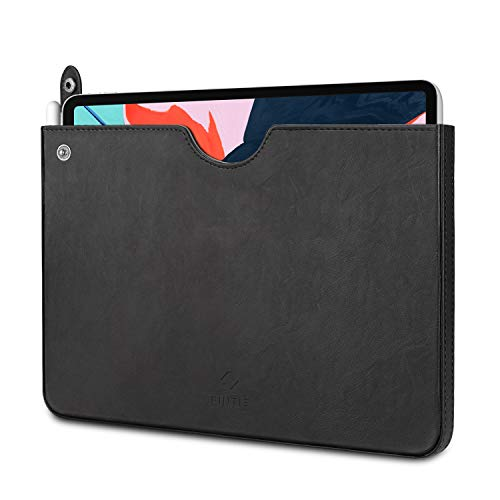"""Fintie Sleeve for iPad Pro 11"""" 2018, Slim Fit Vegan Leather Protective Cover Carrying Case Bag Pouch w/Apple Pencil Slot, Compatible with iPad Pro 11"""" 2018, iPad Pro 10.5"""" 2017 Tablets, Black"""
