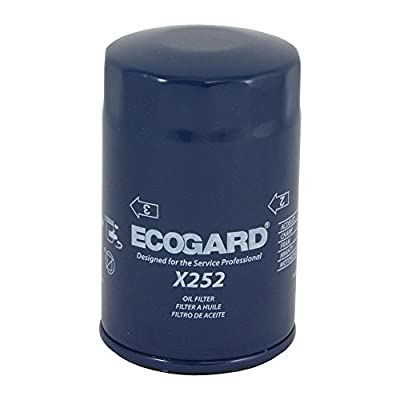 ECOGARD X252 Premium Spin-On Engine Oil Filter for Conventional Oil Fits American Motors Gremlin 2.0L 1977-1978, Concord 2.0L 1978-1979, Spirit 2.0L 1979 | Audi TT Quattro 1.8L 2000-2006: Automotive
