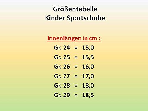 gibra Sportschuhe für Turnhalle Gr 24 Orange Kinder Orange Schwarz 29 Die mit Schwarz Klettverschluss rwCqrH5