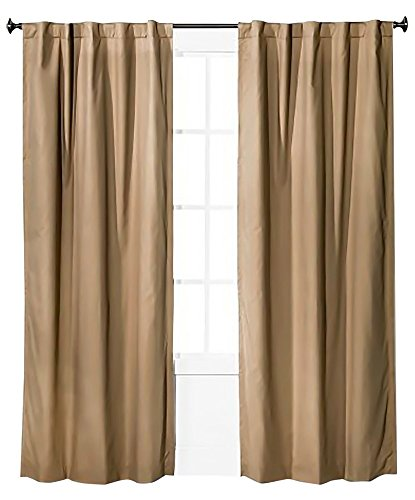 (Pillowfort Twill Light Blocking Curtain Panel (Tan, 95
