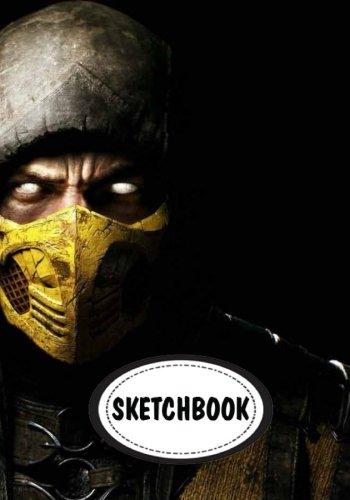 Sketchbook: Scorpio ninja mask : 110 Pages of 7
