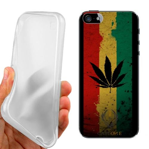 CUSTODIA COVER CASE MARIJUANA FLAG PER IPHONE 5 5G 5S