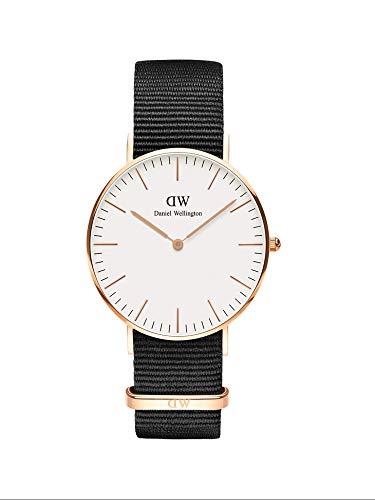 Daniel Wellingon Classic Cornwall Watch, Black NATO Band
