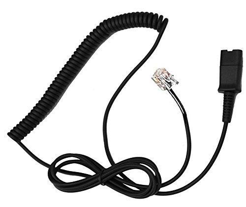 Sennheiser Telephone Headset Cable (4Call KQMB10 Polaris QD to RJ Quick Disconnect Cable HIC for Aastra Adtran Alcatel Lucent Avaya Ascom Audioline Elmeg Gigaset Interquartz Lazerbuilt Safecom Ericsson Hybrex Ulytel Office IP Phone)