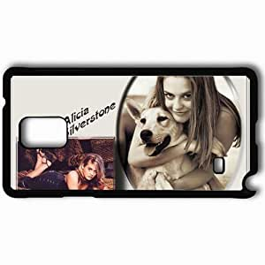 Personalized Samsung Note 4 Cell phone Case/Cover Skin Alicia Silverstone Alicia Silverstone Actors Black