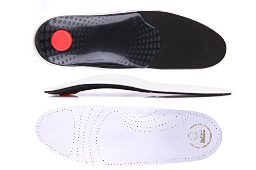 Die Schuhanzieher® Soft Luxus Fußbett aus echtem Leder Einlegesohlen Gr. 36-48 z1719(42)