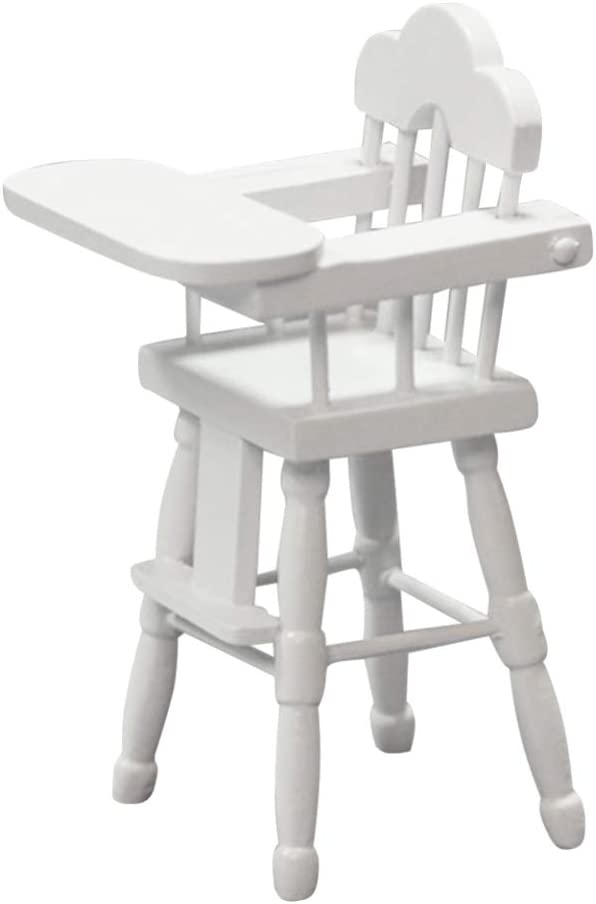 TOYANDONA Dollhouse Miniature High Chair Model Furniture for 1/12 Doll House Accessories Dollhouse Decoration