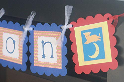 Baby Shower Goodnight Moon Storybook Book Baby Shower Theme Banner - Party Pack Specials & Matching Items Available - Favor Tags, Cupcake Toppers ()