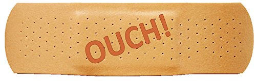 Bumper Sticker for Cars, Trucks - Ouch: Band Aid - Professional Vinyl Decal | Made in USA - 3