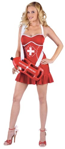 [Off Duty Lifeguard Babe Adult Costume] (Off Duty Lifeguard Costumes)
