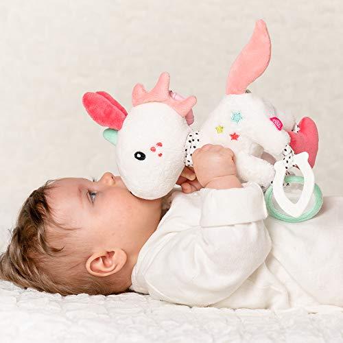 Fehn 057096 Unicornio De Actividad Con Anillojuguete De Motor Para Colgar Con Emocionantes Colgantes Para Agarrar Y Producir Sonidos Para Bebes Y Ninos Pequenos A Partir De 0 Meses