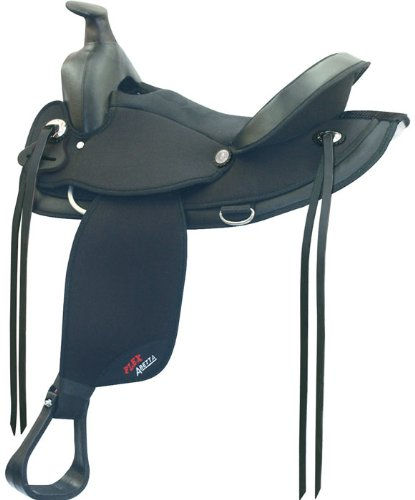 (ABETTA Arabian Flex Trail Saddle w/Aire Grip, 17
