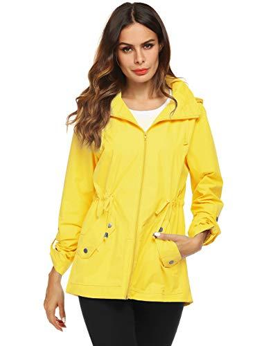 Avoogue Winter Raincoat Women Tween Rainwear Sport Jacket Yellow XL (Best Gifts For Tween Girl 2019)
