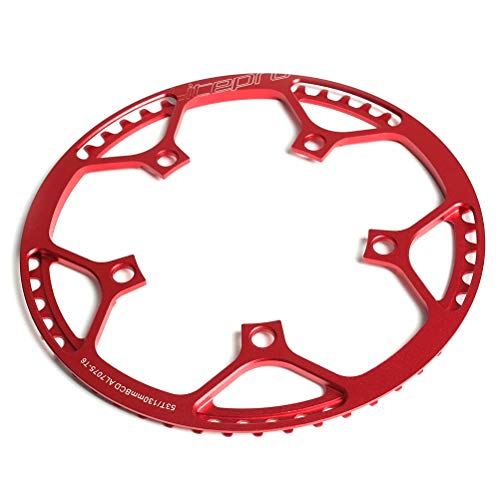 Yeawooh Bicycle Plate, Bicycle Chain BCD 130 mm Single Rod Ring Round Chain for Road Bike Mountain Bike ()