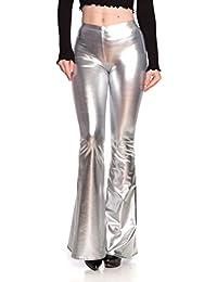 Women's J2 Love Faux Leather Bell Botom Flare Pants