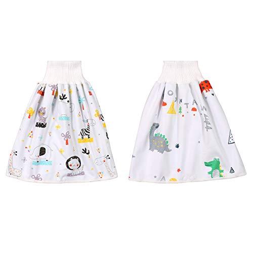 2 stuks Comfy Kinderluierrok Shorts Anti Bedplassen Wasbaar Katoen Bamboevezel TPU Waterdicht Absorberende Beddengoed…