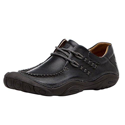 Optima Chaussures En Cuir Véritable À Lacets Pour Hommes