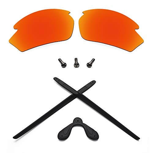 Replacement Lenses & Screws & Earsocks Rubber Kits for Rudy Project Rydon (Blaze Red-Polarized)
