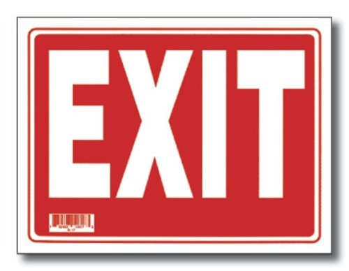 12'' x 16'' Exit Sign, Box Pack of 24
