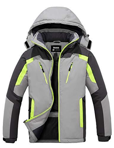 Skieer Men's Waterproof Ski Jacket Winter Snow Coat Windproof Snowboarding Jackets Warm Raincoat