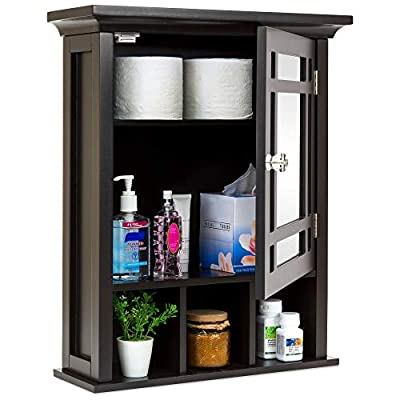 Best Choice Products Home Bathroom Vanity Mirror Wall Storage Cabinet
