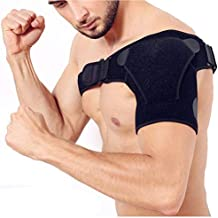 YXTY Shoulder Support Brace, Adjustable Shoulder Brace Rotator Cuff with Pressure Pad for Men & Women Dislocated AC Joint, Compression Sleeve Recovery, Shoulder Pain Injuries, Sprain