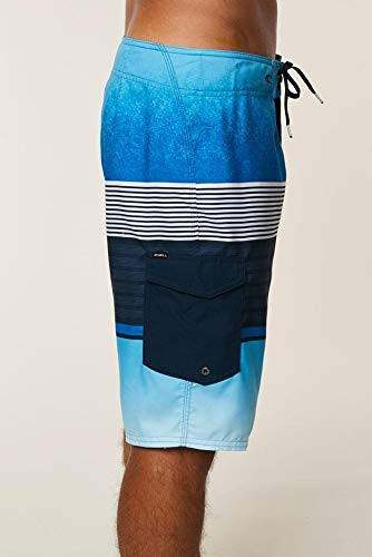 ONeill Mens 21 Inch Outseam Ultrasuede Swim Boardshort 30 Turquoise Plaid