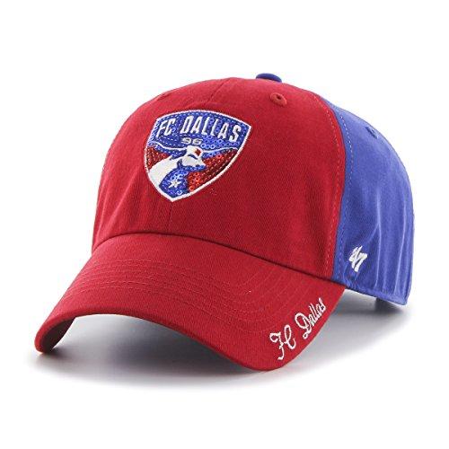 MLS FC Dallas Women's '47 Sparkle Sequin Two-Tone Clean Up Adjustable Hat, Royal