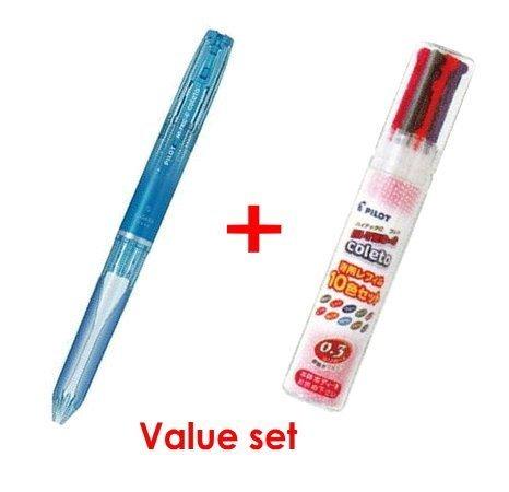 Pilot Hi-tec-c Coleto 5 Color Multi Pen Body Component - Clear Blue Body & Multi Pen Ink Cartridge - 0.3 Mm - 10 Color starter set by Pilot (Image #1)