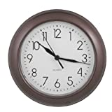 "ITC (32000-TF-DB) 8"" Truffle Round Clock"