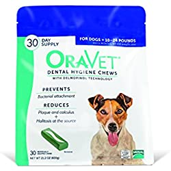 Oravet Merial Dental Hygiene Chew for Dogs 10-24lbs, 30 Count (Discontinued by Manufacturer)