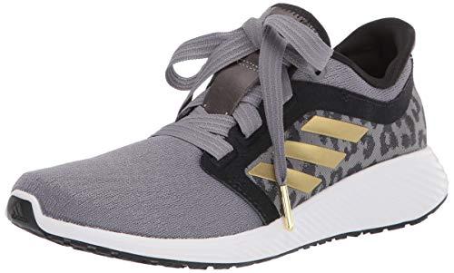 adidas Women's Edge Lux 3 Running Shoe, Grey/Gold Metallic/White, 9