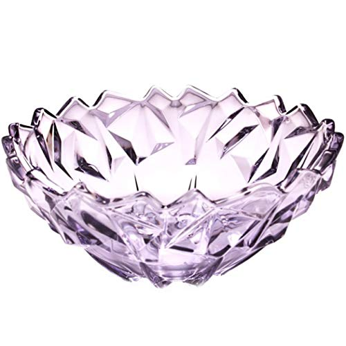 - ZJFSX Crystal Glass Fruit Bowl Cupcake Candy Fruit Plate, Fashion Fruit Dish Container Modern Simplicity Fruit Tray for Tabletop Storage Decorative Dinner Table Kitchen Counter,Purple_24x11cm