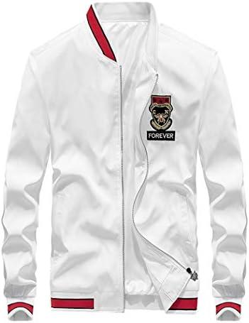 メンズ ブルゾン ジャンバー スタジャン 刺繍 薄手 ジャケット スリム アウター ストリート ファッション 春 秋 白 黒