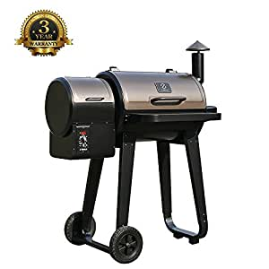 Z GRILLS Portable BBQ Pellet Grill and Smoker 450 sq. in Electric Smoker with Digital Controls (450A)