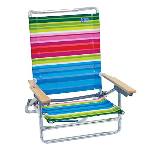 Rio Beach Classic 5 Position Lay Flat Folding Beach Chair