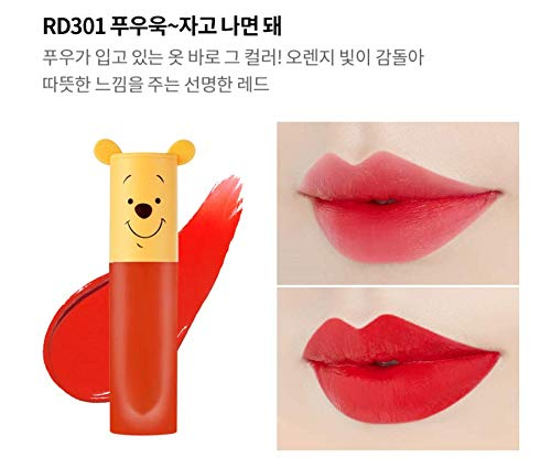 Etude House Happy With Piglet Color In Liquid Lips Air Mousse (RD301) (Etude Color In Liquid Lips)