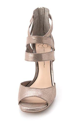 Jessica Simpson - Sandalias de vestir para mujer Slate Dusty Metallic