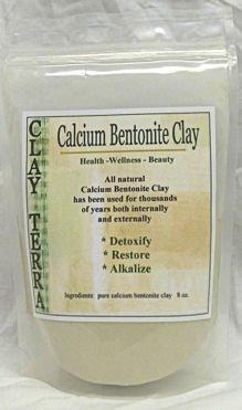 Clay Terra - Calcium Bentonite Clay - 8 oz. food grade Montmorillonite clay, green clay