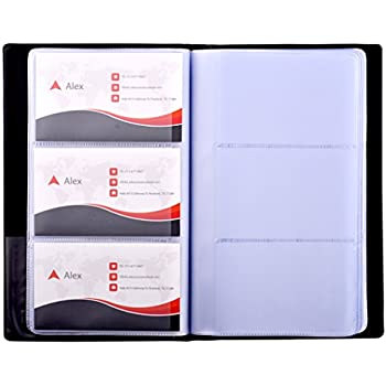 Amazon cardinal business card books 65361 c20 business maxgear business card book holder journal business card organizer professional pu leather name card book holder office business card holder hold 240 reheart Image collections